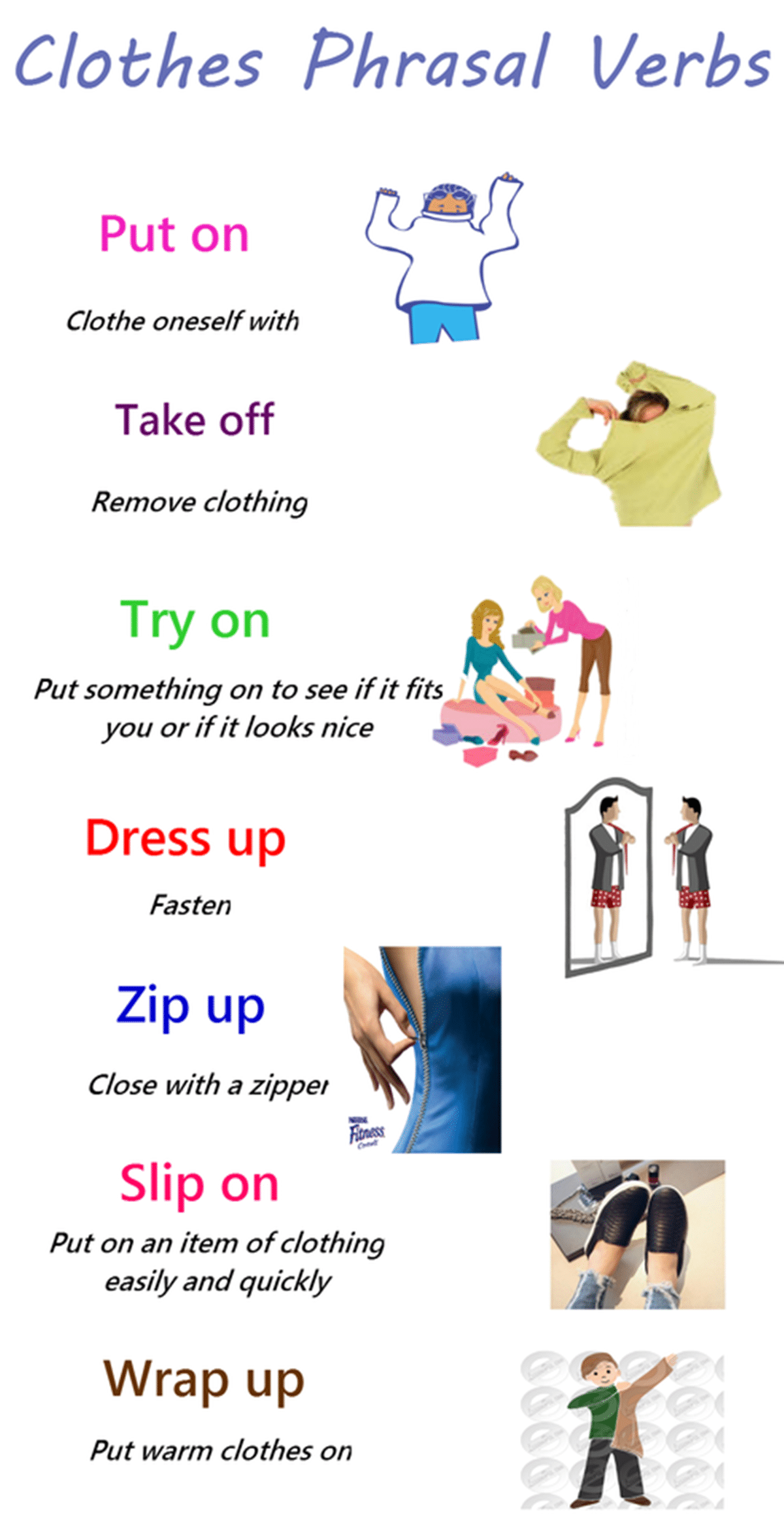 20 Useful Phrasal Verbs Relating To Clothes