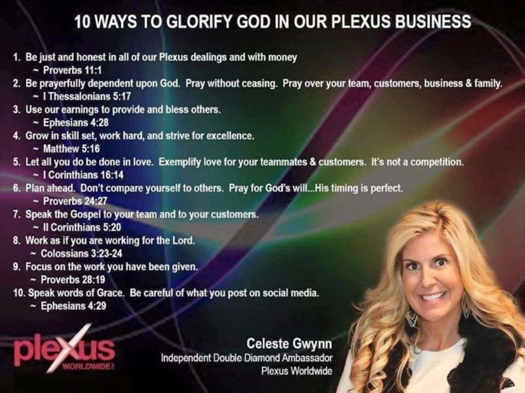 10 Ways To Glorify God In Our Plexus Business