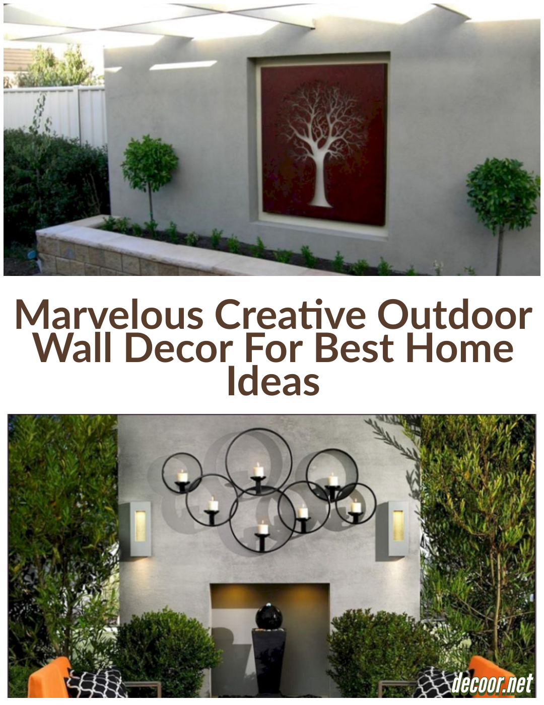 12 Marvelous Creative Outdoor Wall Decor For Best Home Ideas