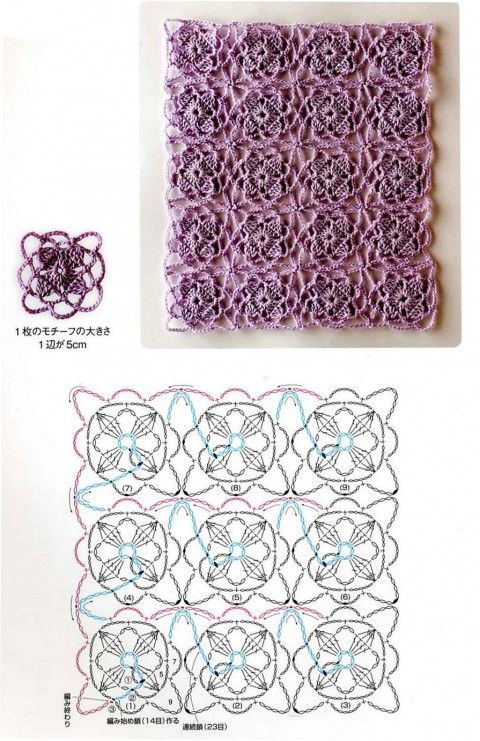 Техника безотрывного вязания полотна крючком - вязание крючком на ...
