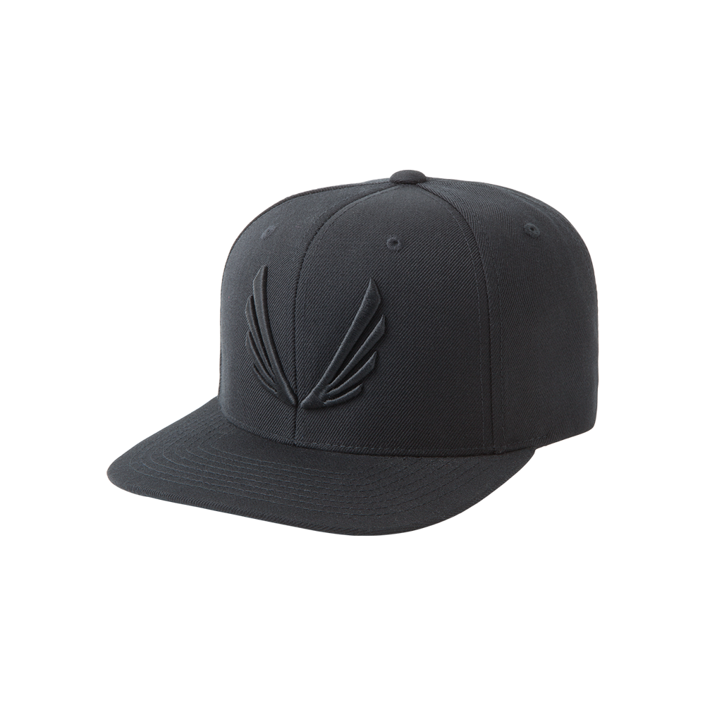 Wings Logo SnapBack Black/Black Wings logo, Snapback