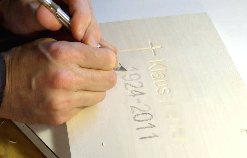 Carving letters in wood using a router carving letters