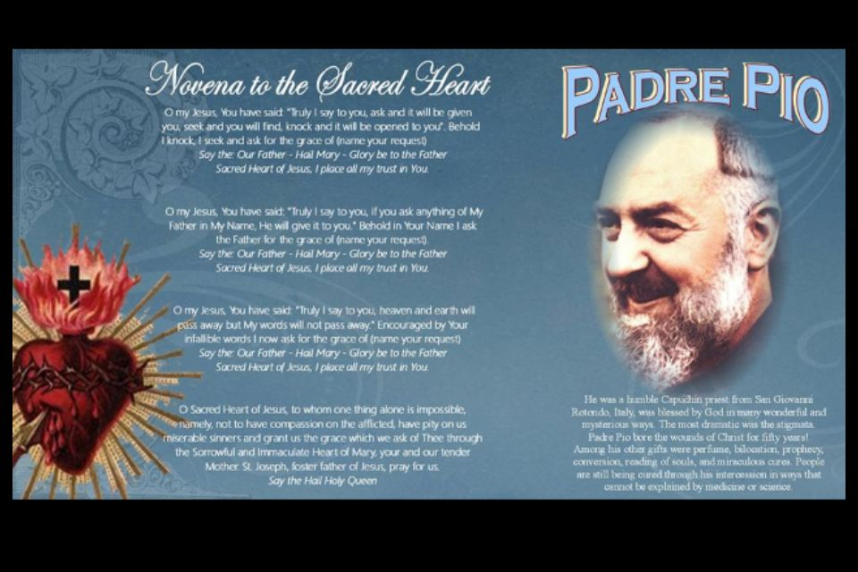 Padre Pio prayer to the Sacred Heart