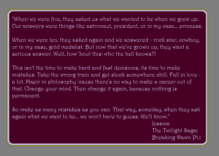 jessicas graduation speech in twilight