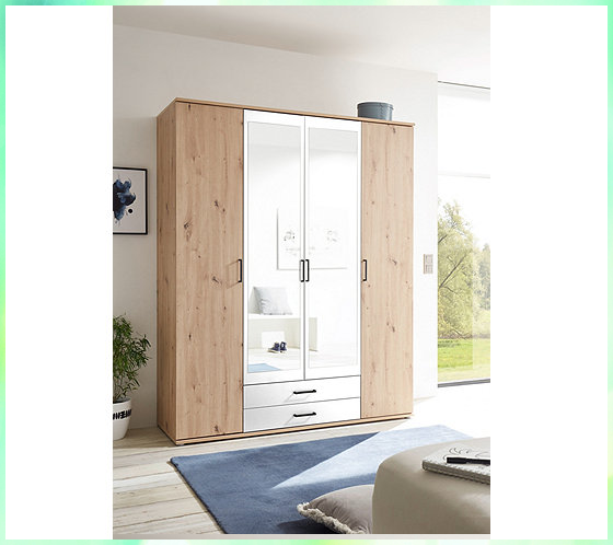 Kauf Kleiderschrank Schrank Gunstig Kostenloser Bezug Oder Lieferung Nach Hause In 2020 4 Door Wardrobe New Homes Tall Cabinet Storage