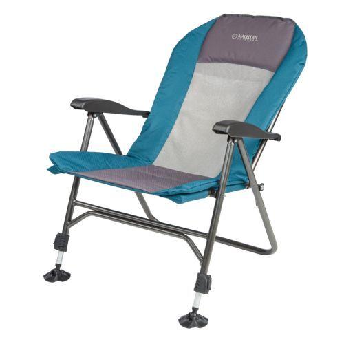Magellan Outdoors Ultimate Padded Recliner Chair Metal Folding