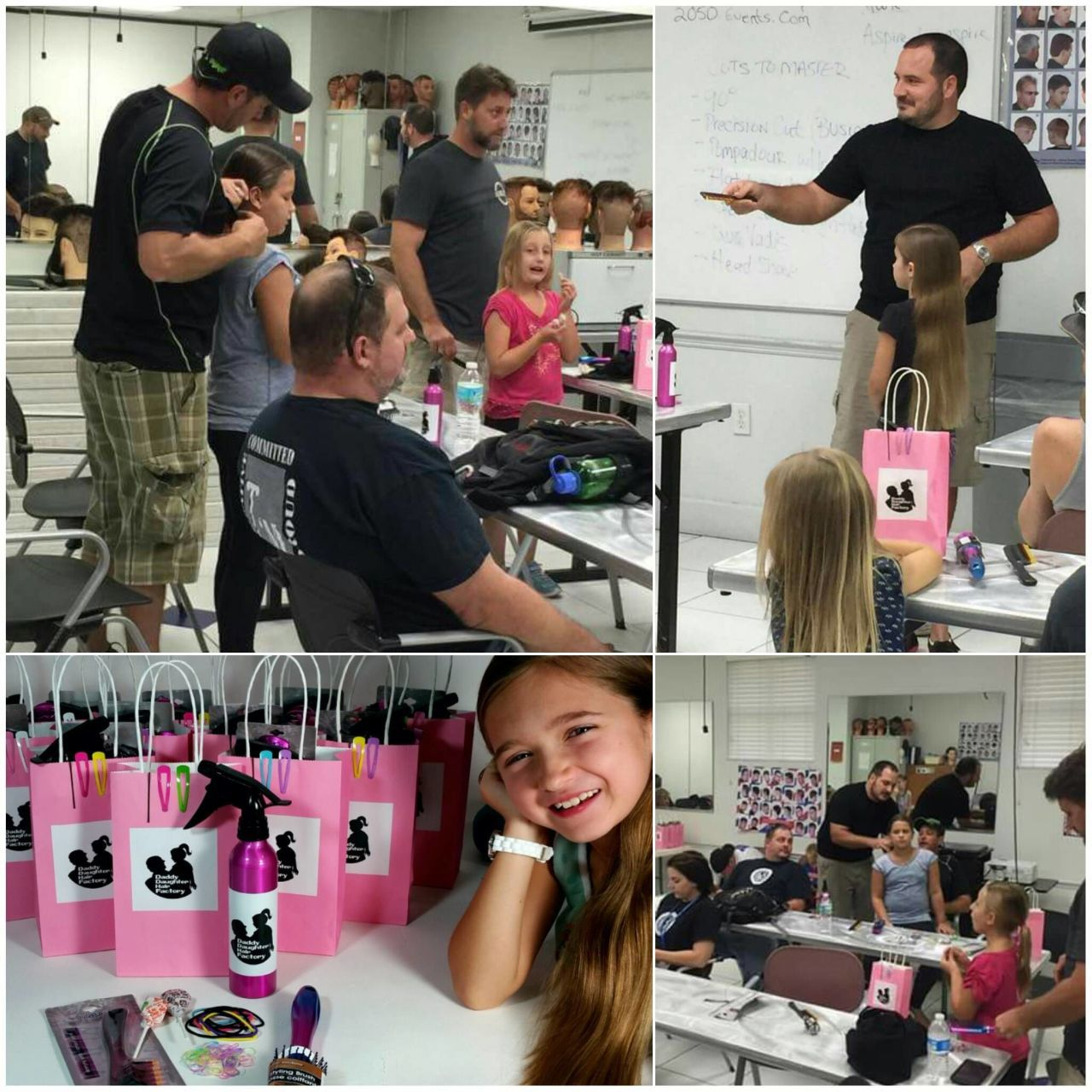 Father Creates a Class For Dads to Learn How to Style Their Daughters Hair
