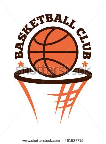 Template Logo For Basketball Sport Team With Sport Sign And Symbols