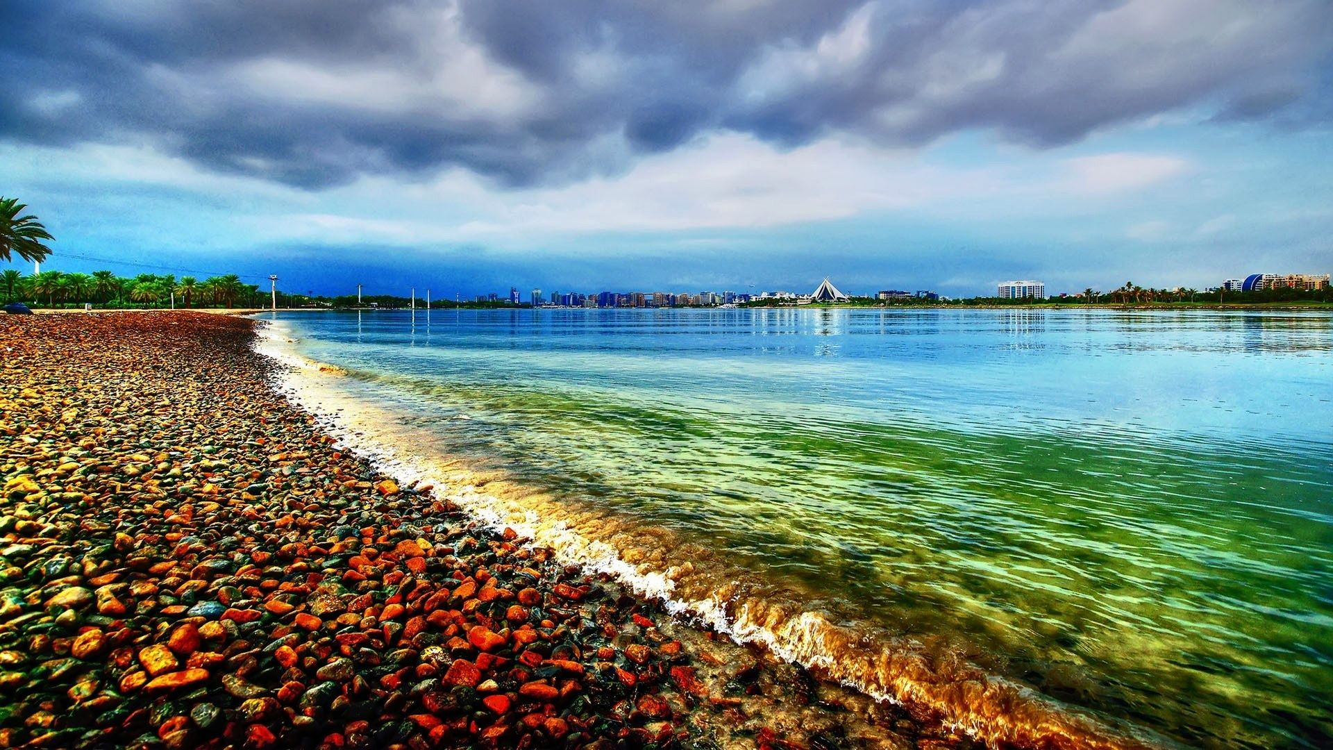 Gravel Beach HD 1080p Wallpapers Download | Beautiful in 2019 | Beach wallpaper, 1080p wallpaper ...