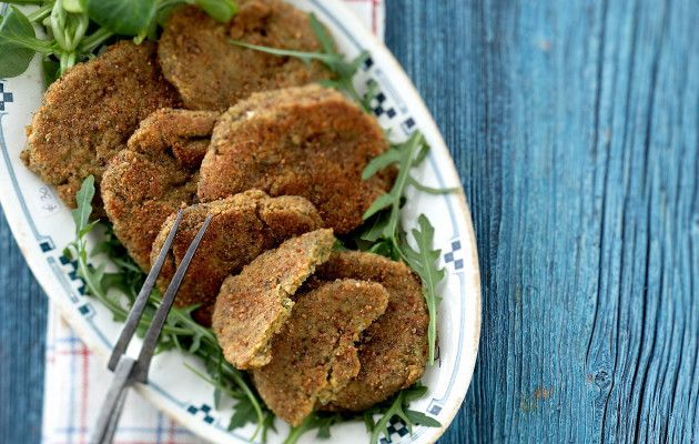 Crispy falafel steaks, Finnish Food, June 2016