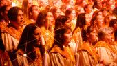 Book the Epcot Candlelight Dining Package at Disney World if you want to be sure of guaranteed seating at the annual Candlelight Processional - as well as enjoy a festive holiday meal!