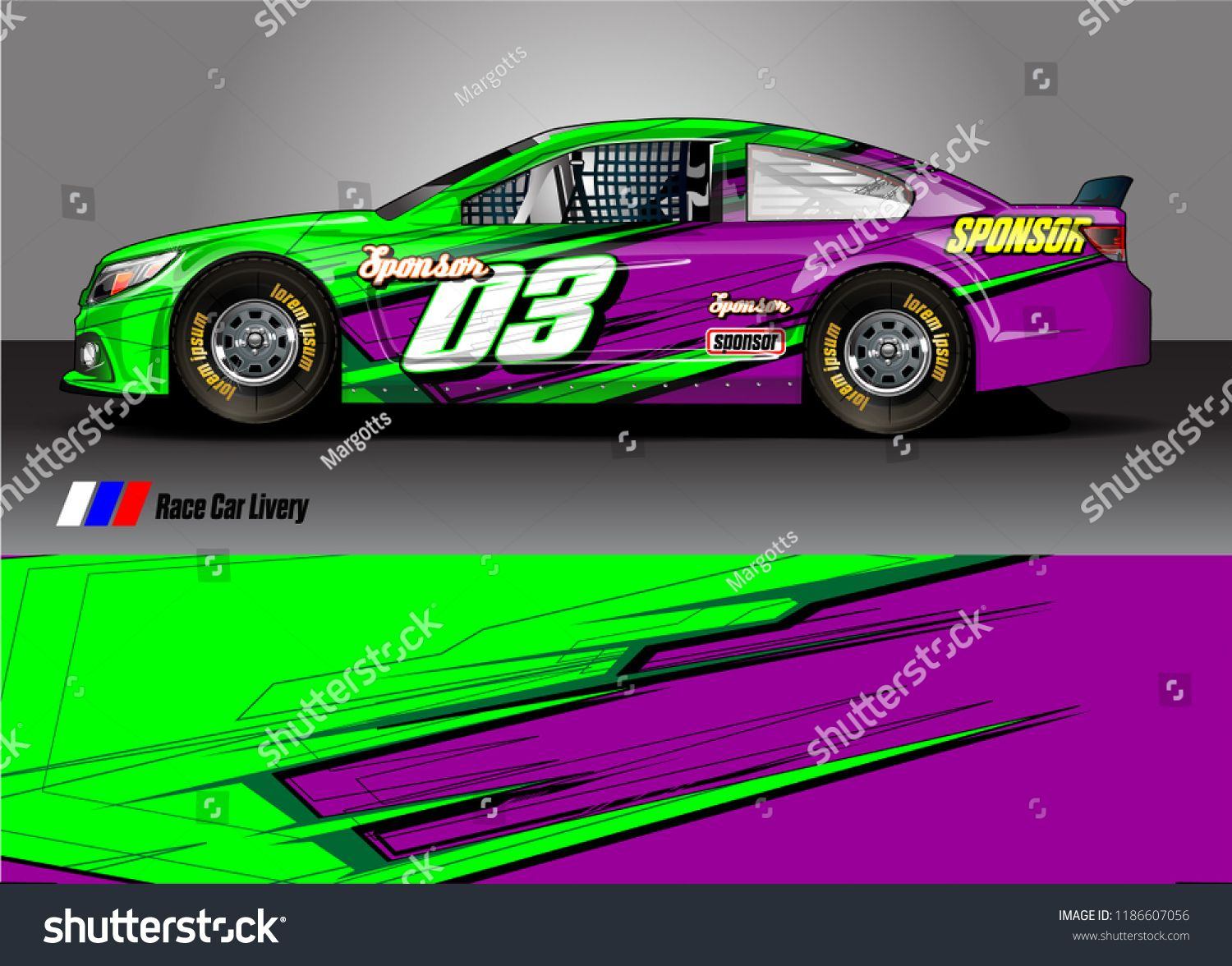 Car decal design vector  abstract racing graphic stripe