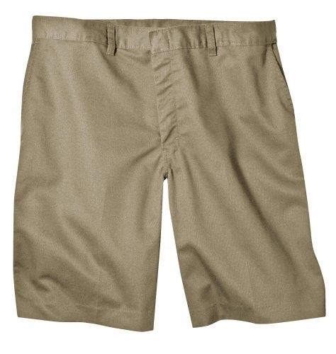 Dickies Men's Young Adult Sized Flat Front Short, Khaki, 33