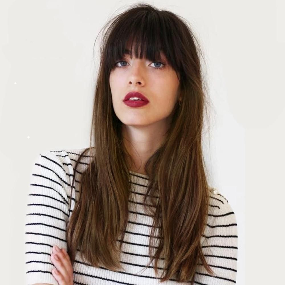 Affinity | Long Straight Synthetic Natural Hair Wig #frenchgirlstyle