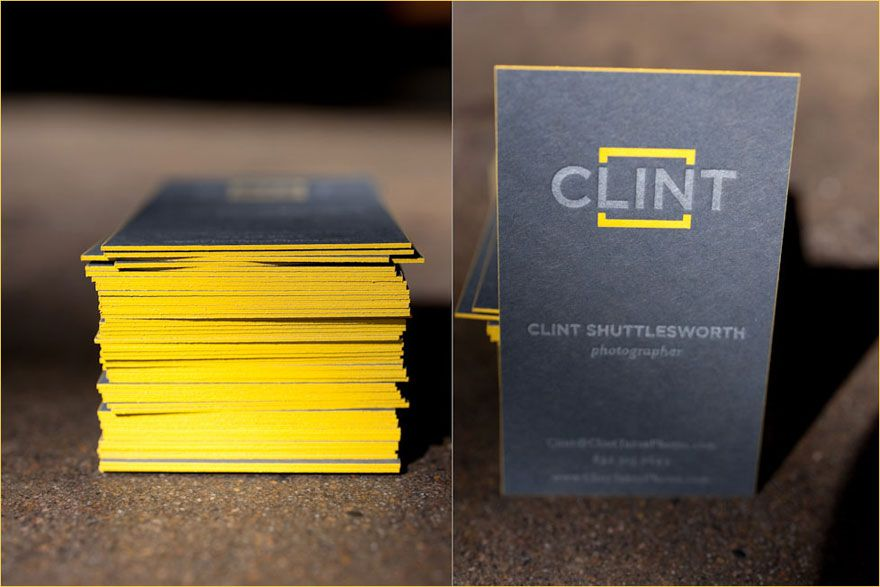 business cards - colored edges Clint Shuttlesworth Photography ...