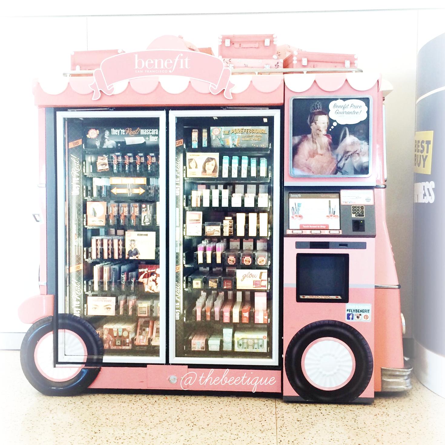 Benefit Cosmetics Vending Machine Benefit cosmetics