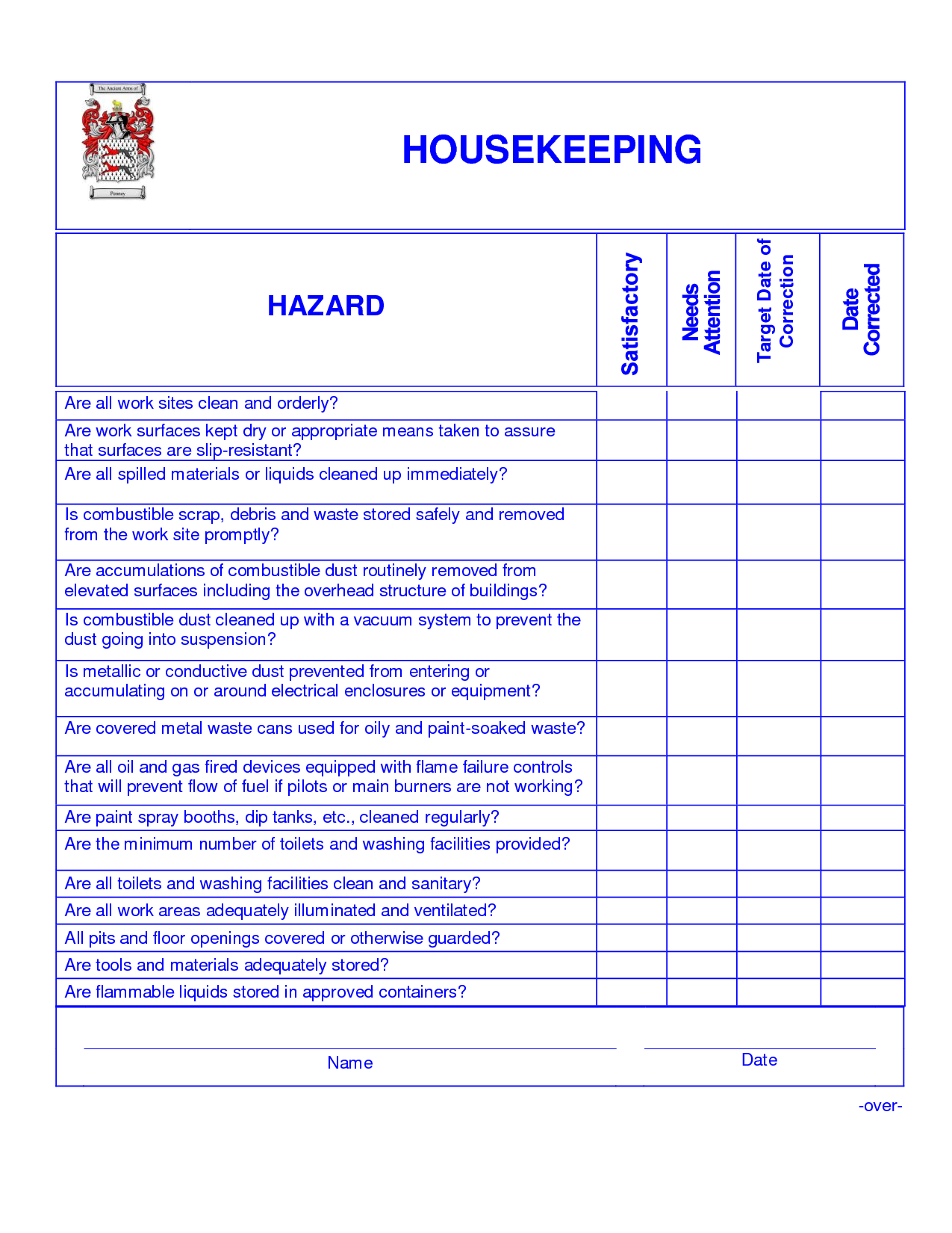 Housekeeping Openings Housekeeping Cleaning Checklist Hotel Housekeeping Housekeeper