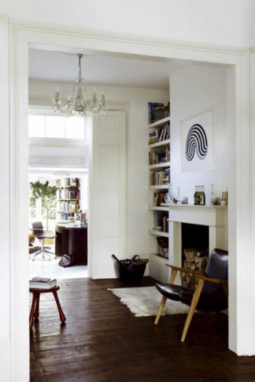 55 Cool Dark Wood Floor Ideas Small House Home Decor Ideas Victorian Terrace Interior Vintage Living Room Home Living Room
