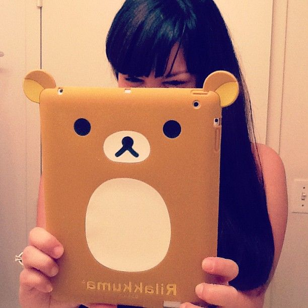 #kawaii #rilakkuma ipad case ^_^  I want this for my birthday!