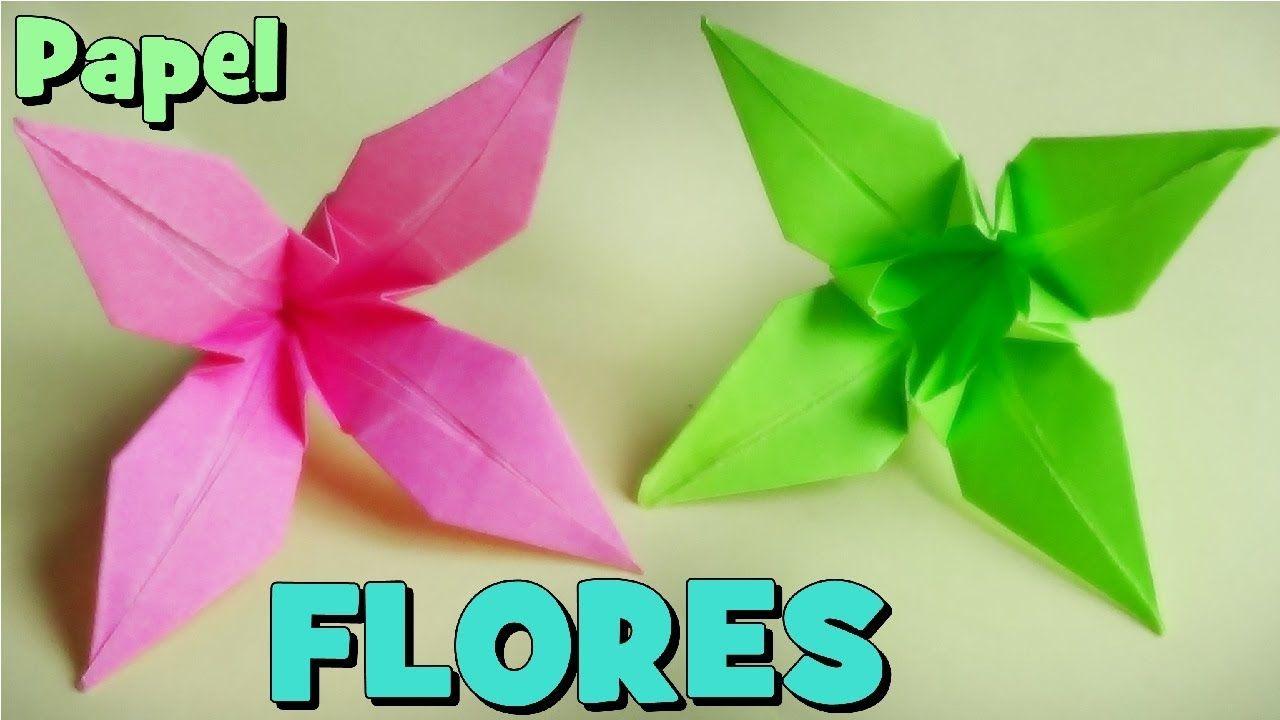 Cómo Hacer Una Flor De Papel Origami Lirio Como Hacer Flores Como Hacer Origami Cómo Hacer Flores De Papel