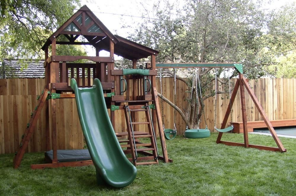 Backyard Playset Outdoor Pinterest