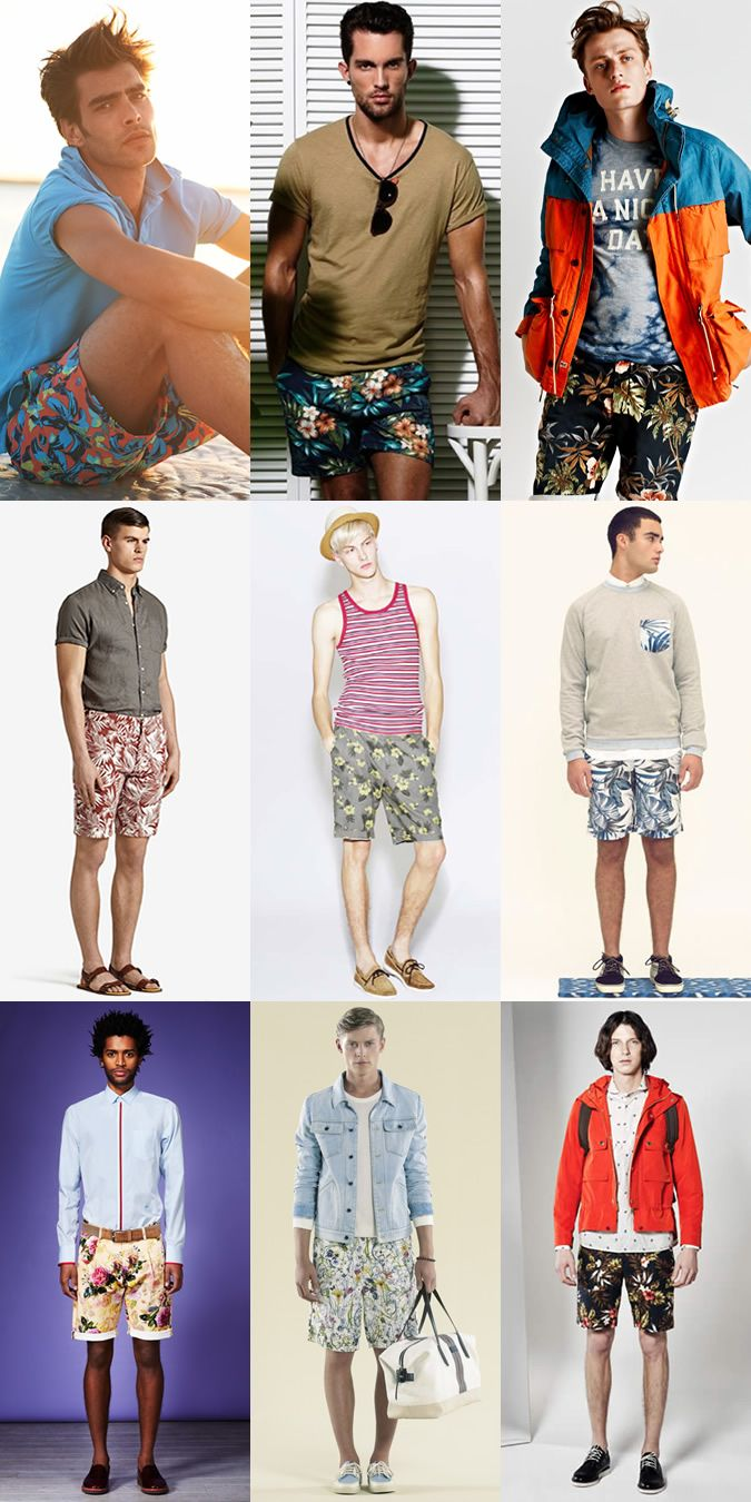 Men's Floral Shorts Lookbook | Men's Style | Pinterest | Floral ...