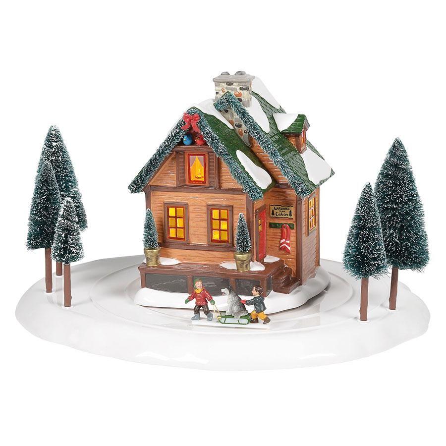 Original Snow Village Winter Wonderland Cabin 6005455 Department 56 Official Site In 2020 Snow Village Department 56 Christmas Village Winter Wonderland