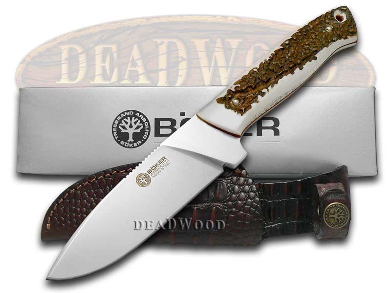 BOKER TREE BRAND Premium Deer Stag Dano Fixed Blade Hunter