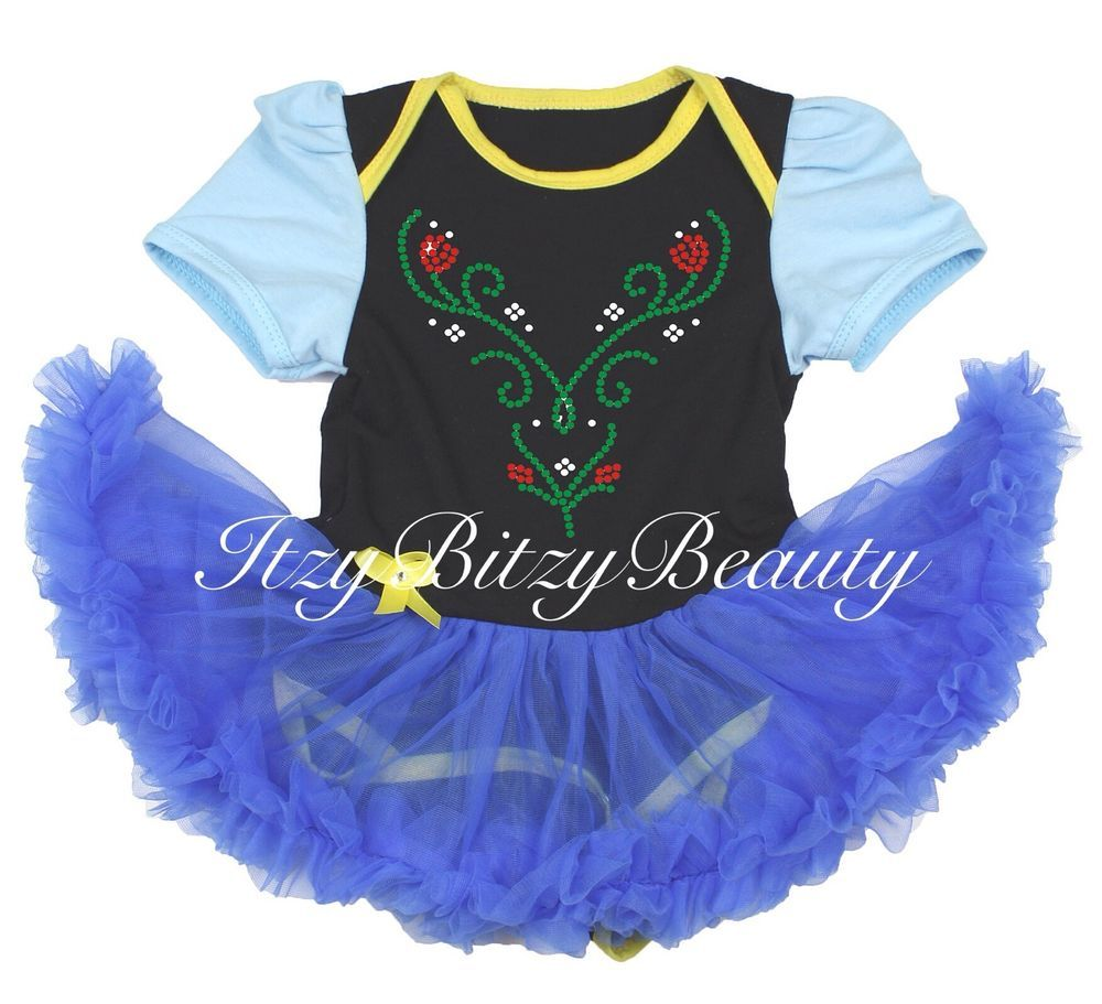 Baby Anna Pettidress Halloween Costume Frozen Dress Rhinestone Newborn Infant  sc 1 st  Pinterest : baby frozen anna costume  - Germanpascual.Com