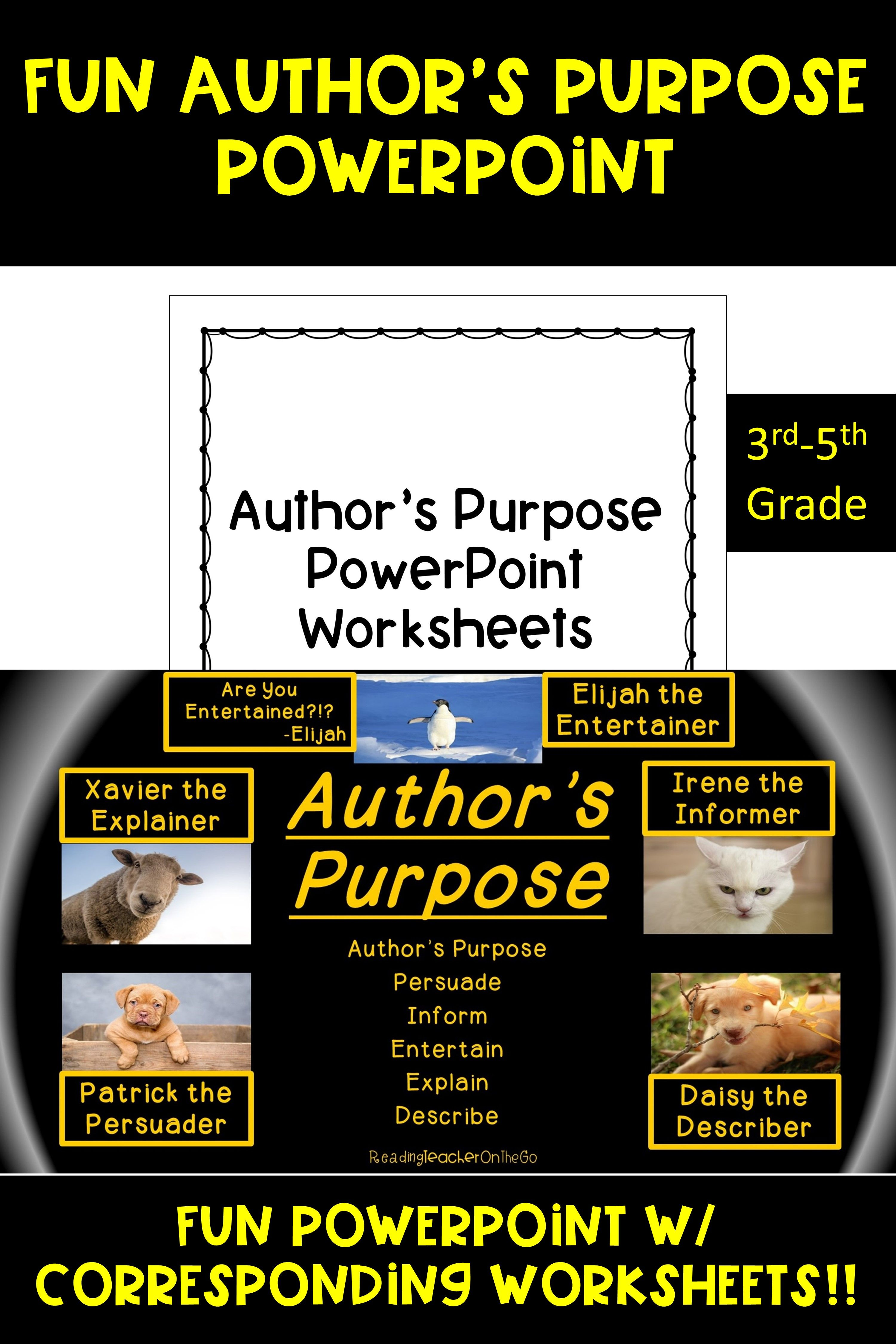 Author S Purpose Powerpoint In