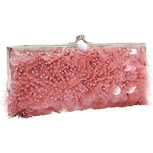 Eveningbags Handbags Moyna Beaded Evening Clutch Raspberry