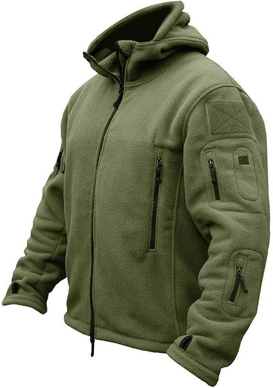 Men's Tactical Fleece Jacket Army Green CF12BAC0NG3