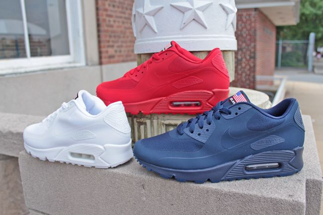 releasing nike air max 90 hyperfuse independence day pack