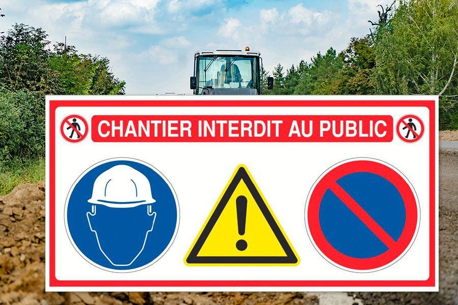 Panneau De Chantier Interdit Au Public Panneau De Chantier Chantier Panneau Publicitaire