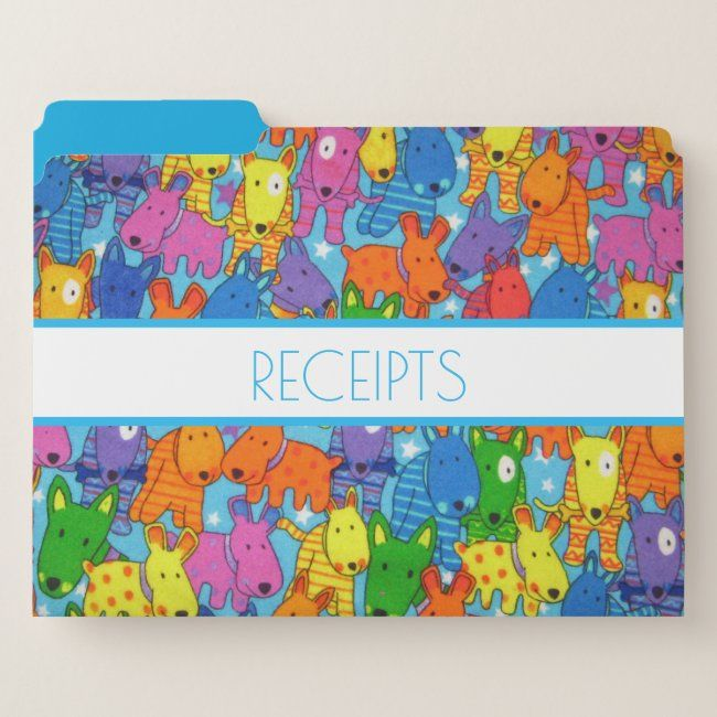 Organizing Homeoffice Ideas: Colorful Dog File Folders