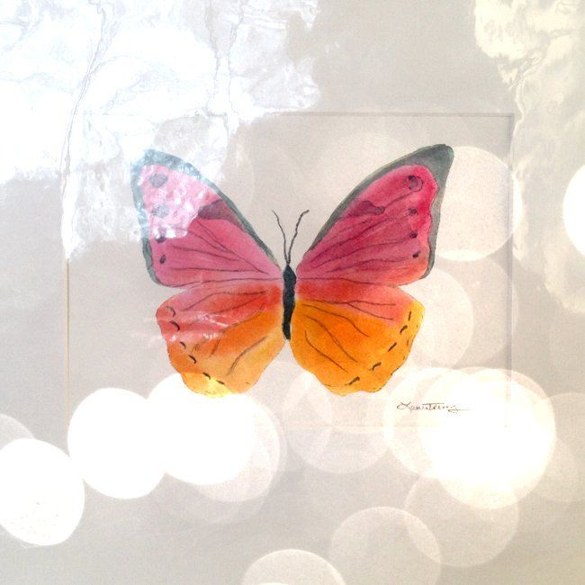 Butterfly Watercolor Painting by lauratrevey on Etsy
