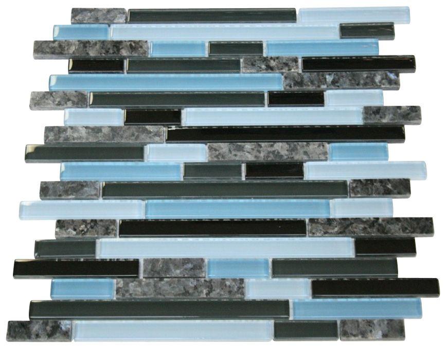 Rainy Sky Glossy Stone Glass Mosaic Tiles Sheet Size 12 7 8 X 11 3 4 X 3 8 Tile Size Random Brick Type Glass Blue Pearl Granite Glass Tile Brick Patterns