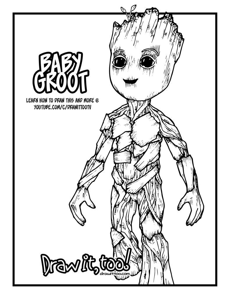 baby groot coloring pages Pin by Alyssa Conley on coloring pages | Coloring pages, Baby  baby groot coloring pages