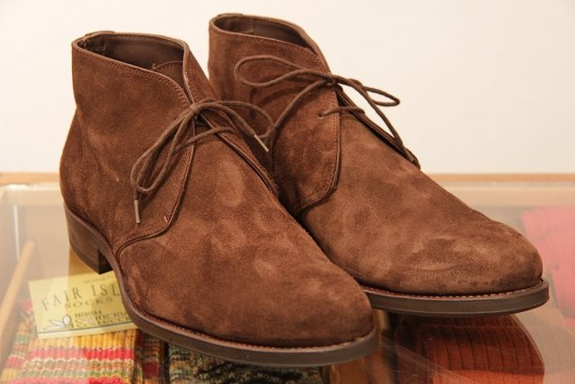 Carmina suede chukka boots after cleaning. Like new!