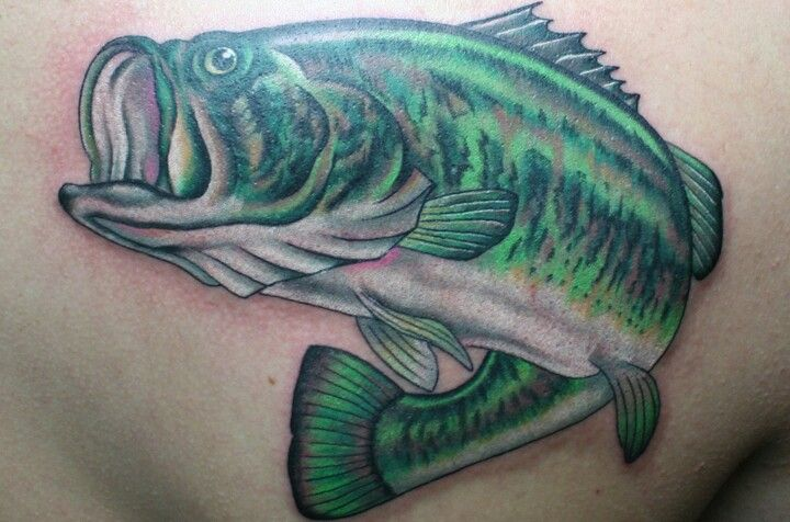 Nice Brightly Colored Bass Tattoo Mom Tattoos Tattoos Picture Tattoos
