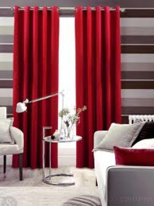 Red living room curtains e1343699030526 red living room - Lime green curtains for living room ...