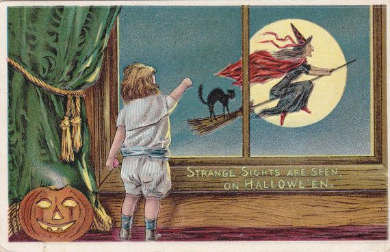 Strange Sights on Halloween 1910s Antique by EphemeraObscura