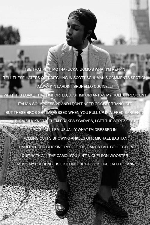 Asap Rocky 24x36 Poster A$ap Problems Peso Long Live Asap Hip Hop Rap Brand New!