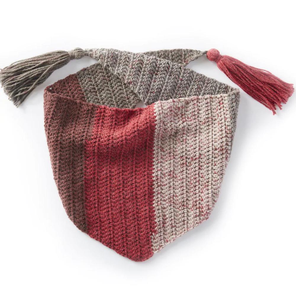 Caron 194 174 Cakes 226 162 Red Velvet Kerchief Crochet Scarf