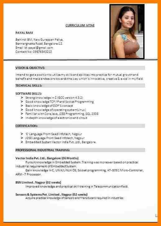 10+ latest cv format 2017 india   sephora resume   Resume Templates ...