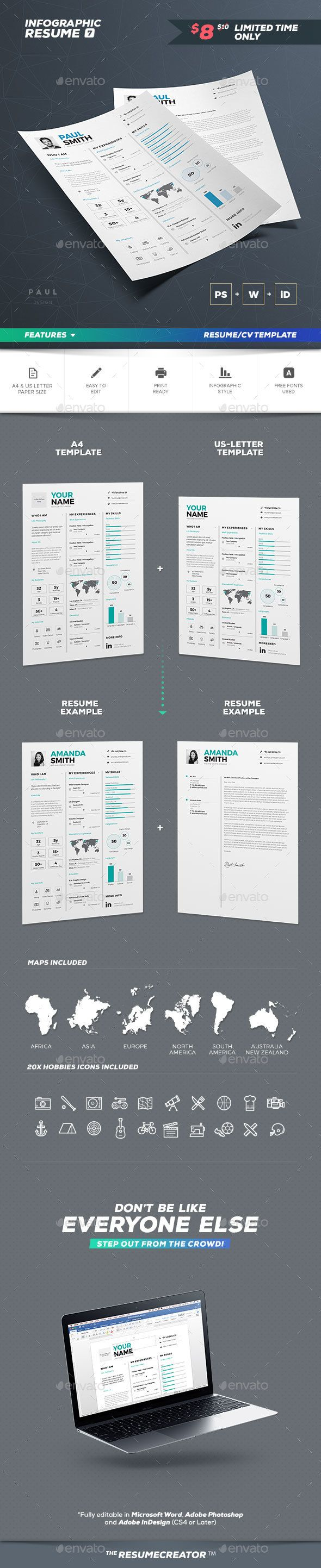 Infographic Resume/Cv Volume 7