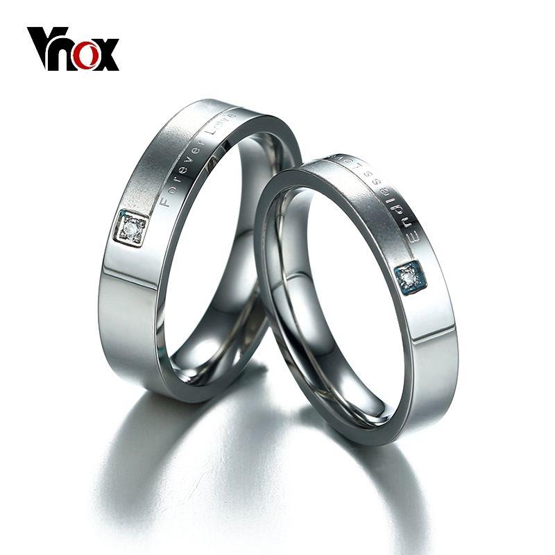 Matt Surface Endless Love Wedding Rings For Women Men Stainless