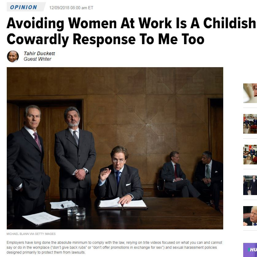 Avoiding Women At Work Is A Childish, Cowardly Response To