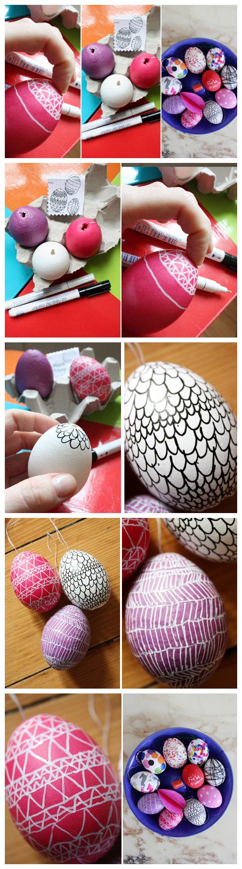 Easter eggs coming.  Rinse after cracking the top of the eggs emptied eggs and dried and then you can start your painting work friends to play your creativity.