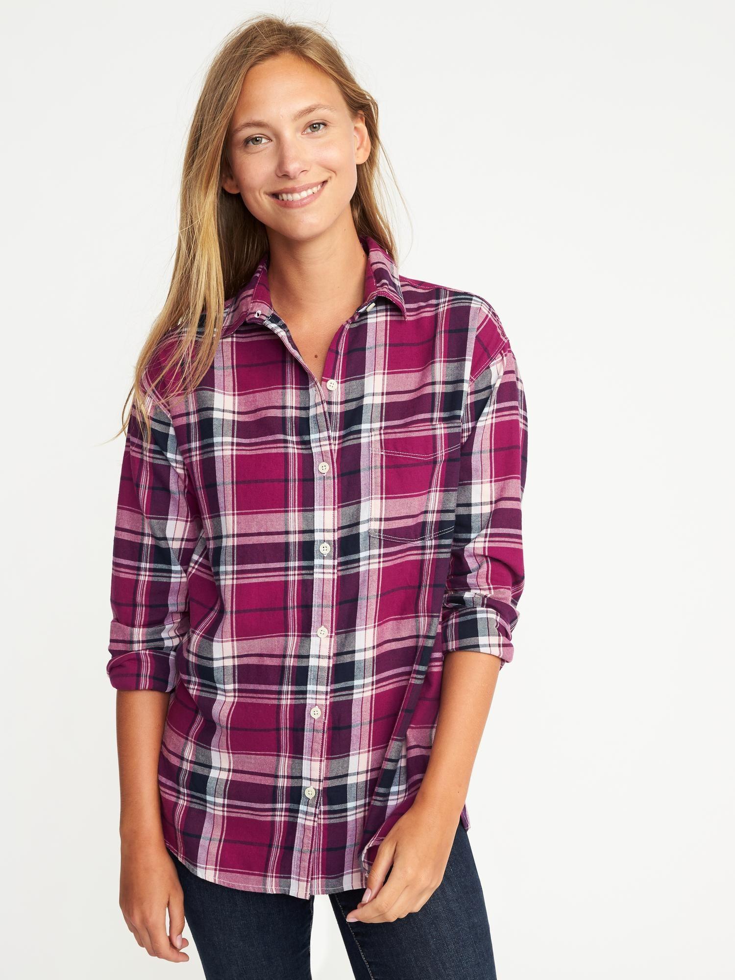 Flannel dress womens  Plaid Boyfriend Shirt for Women  Old Navy  Stuff I Like